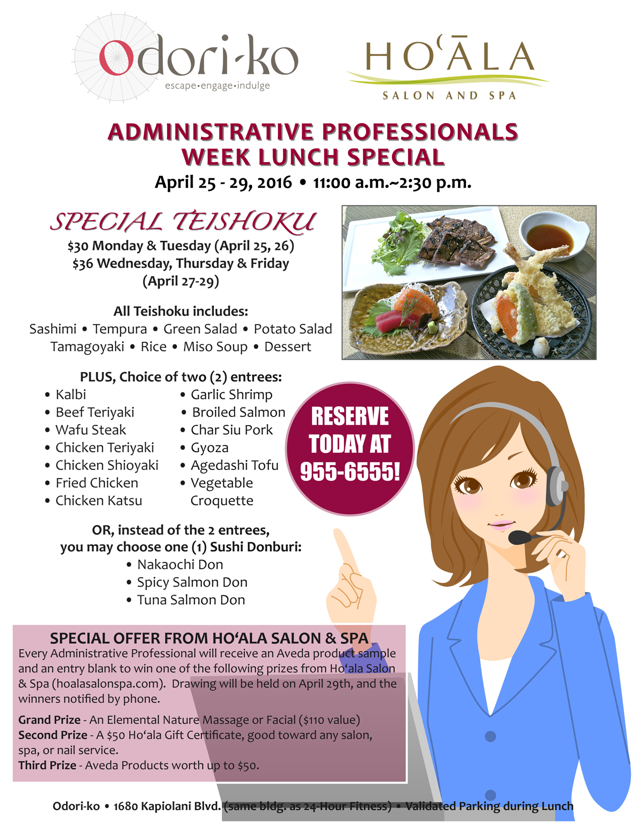 Odori-ko | Administrative Professionals Week Lunch Special!